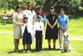 ファシリティドッグのアニーがメラニア・トランプ米大統領夫人と安倍昭恵内閣総理大臣夫人に面会しました!